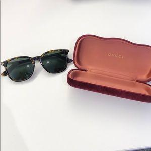 Gucci square tortoise sunglasses